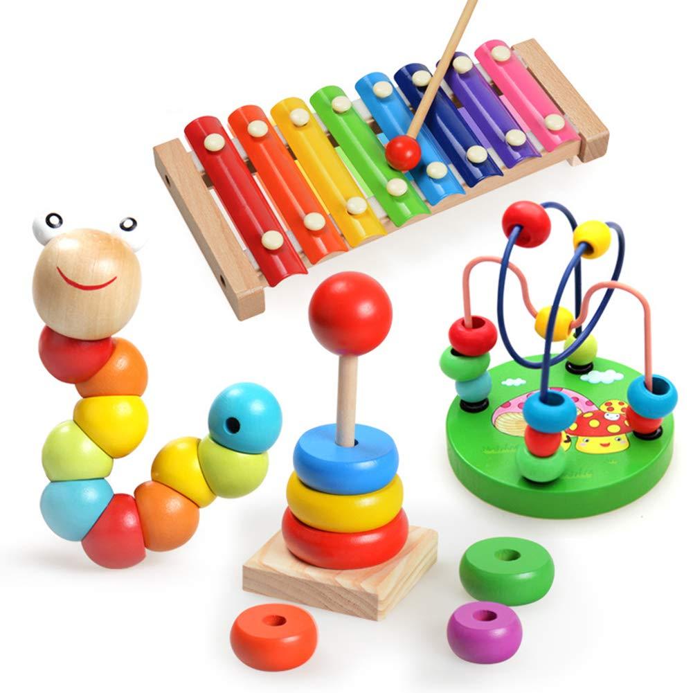juguetes clásicos, xilofono de colores, pirámide de madera