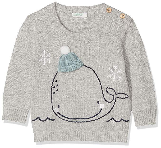 Camiseta ballena de benetton para bebes
