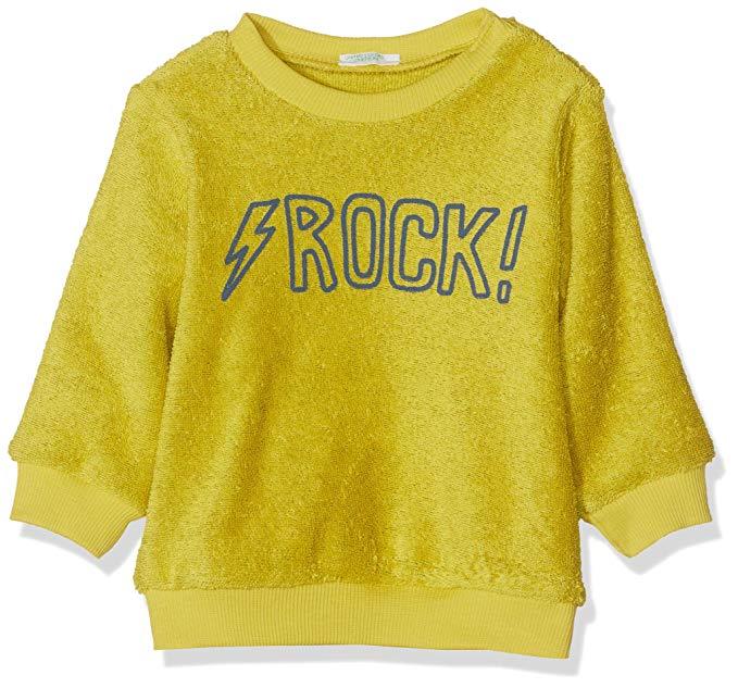 Benetton sudadera rock amarilla para bebes