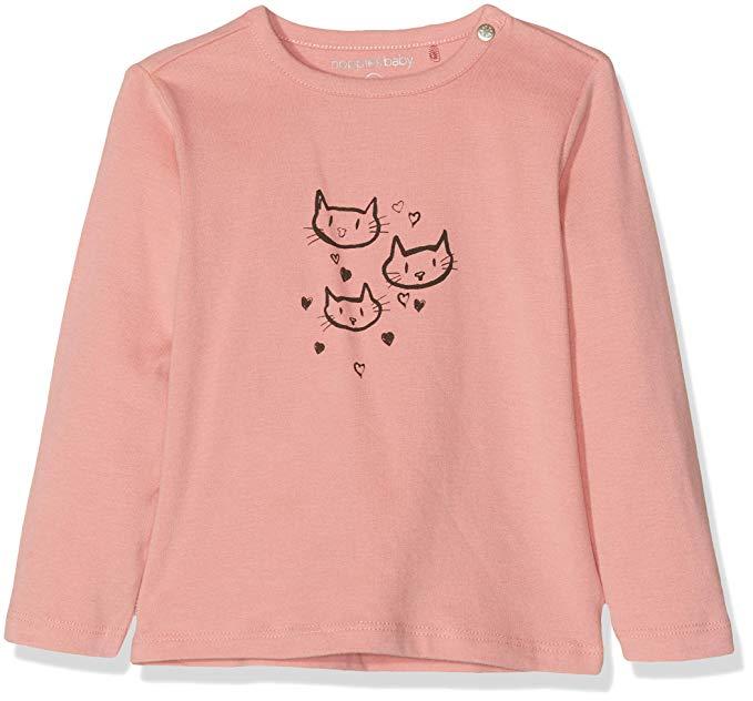 Camiseta para bebe con gatitos y corazones