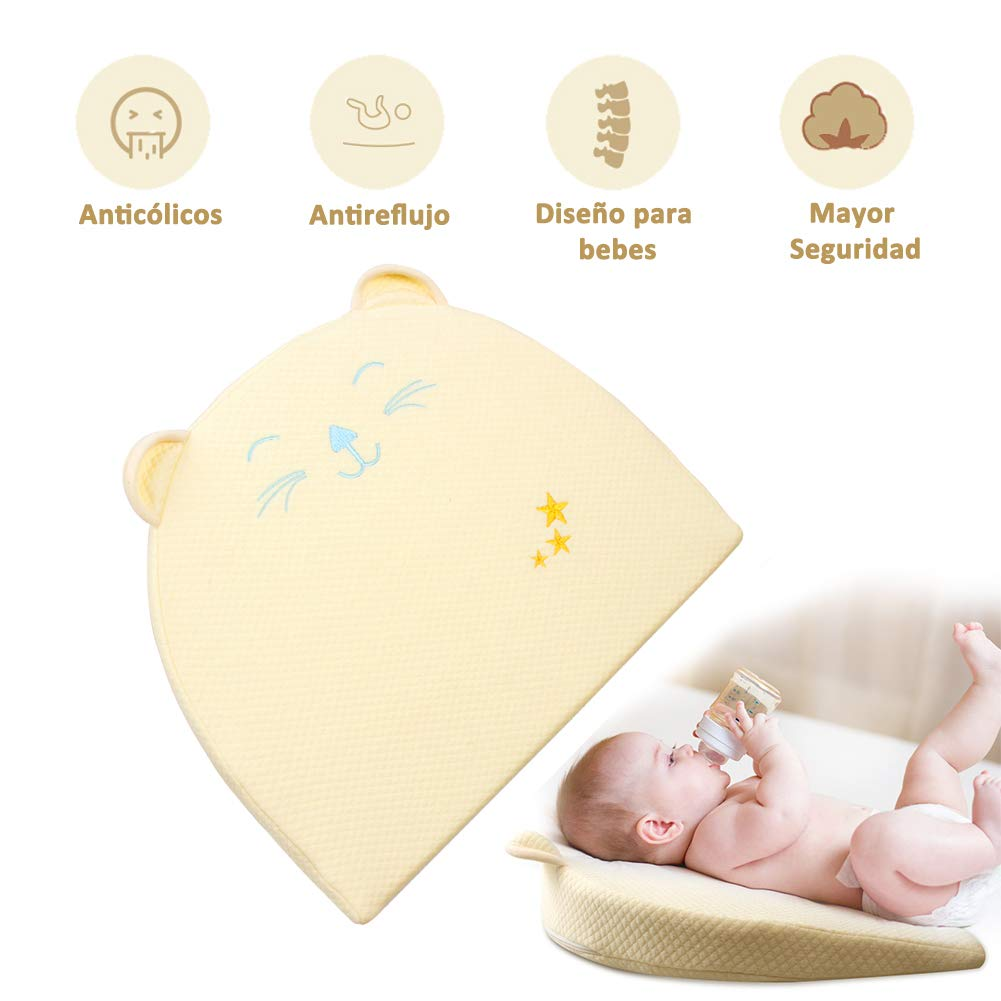 Cojín anti reflujo para bebés con cólico del lactante
