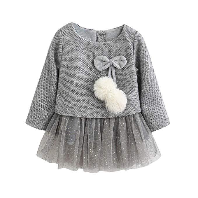 k-youth vestido para bebes gris